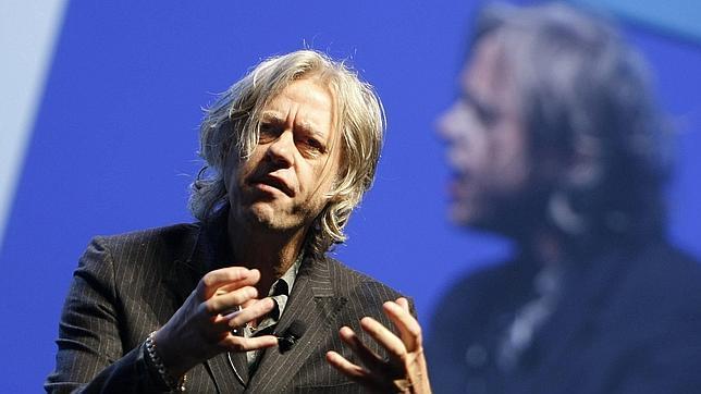 Bob Geldof en una conferencia en Cannes