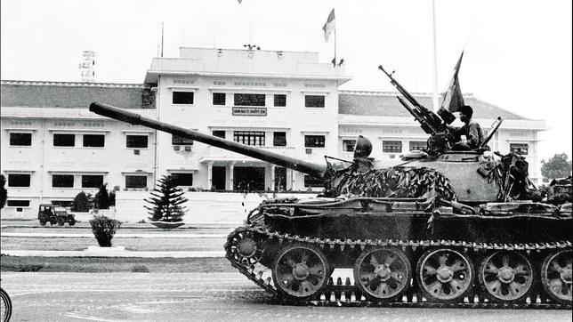 Imagen de archivo de la caída de Saigón en manos del Vietcong