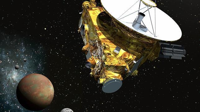 Recreación de la misión espacial New Horizons al planeta enano Plutón