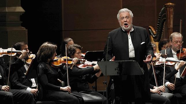 Plácido Domingo durante su actuación en el Liceo
