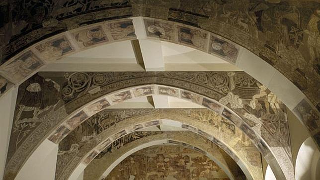 Pinturales murales del Monasterio de Sijena expuestas en el catalán MNAC