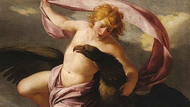 El rapto de Ganimedes por el dios griego Zeus. Óleo de Eustache Le Sueur. 1650.