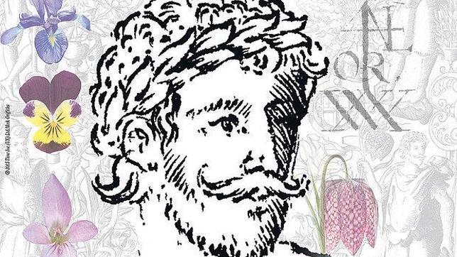 La supuesta imagen del rostro de Shakespeare, que el historiador Mark Griffiths ha encontrado en un libro de botánica de finales del siglo XVI