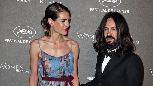 Carlota Casiraghi y Alessandro Michele, director creativo de Gucci, en el Festival de Cannes