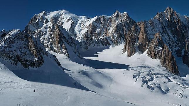 Un detalle de la imagen de Filippo Blengini, tomada en el Mont Blanc