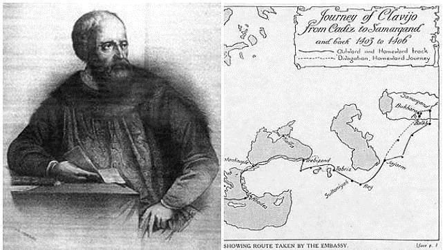 Ruy González de Clavijo, embajador del rey Enrique III, y la ruta que emprendió hasta Samarcanda (Uzbekistán)