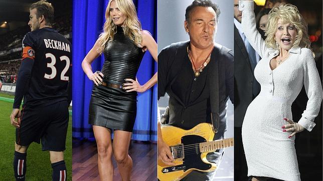 Beckham, Klum, Springsteen y Parton