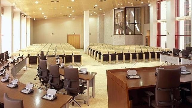 El salón de plenos del Ayuntamiento de Navalcarnero, en una imagen de archivo