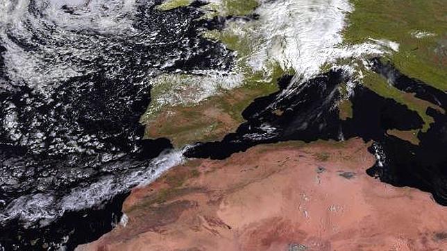 Imagen tomada por el satélite Meteosat para la Agencia Estatal de Meteorología