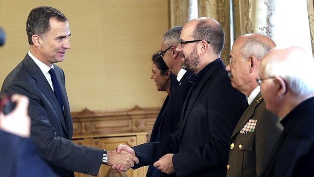 El Rey, durante el encuentro de ayer en La Coruña