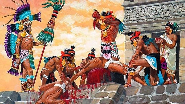 Los presos fueron hervidos vivos y su carne fue comida por los aztecas