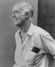 Esteban Vicente, en Bridgehampton, en el verano de 1985. Rameshwar Das