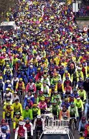 Diez mil ciclistas se congregaron en Madrid