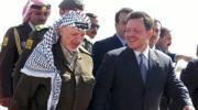 El Rey Abdala II recibe a Yaser Arafat en el aeropuerto de Amán. Epa