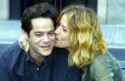 Los protagonistas de la película «El tuno negro», Jorge Sanz y Silke, ayer, en la presentación en Barcelona