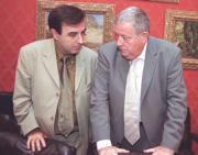 Pedro Romero, concejal de Cultura, junto al director Jorge Fernández. Guerra Salvador Mata