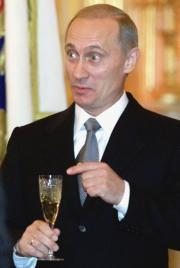El presidente de Rusia, Vladimir Putin, ayer en una recepción en el Kremlin. Reuters