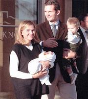 Los Duques de Palma con sus dos hijos