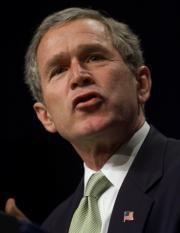 George W. Bush mencionó a los países integrantes del «eje del mal» -Irán, Irak y Corea del Norte- durante su discurso sobre el estado de la Unión Ap
