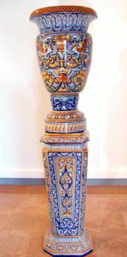 En la imagen, dos piezas de cerámica que forman parte de la exposición. ABC