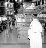 La procesión del Santo Sepulcro aglutina a un buen número de cofradías. Ó. Huertas