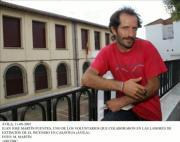 José Manuel Fuentes, uno de los voluntarios casavejanos que colaboraron en la extinción del incendio, destaca el valor de los profesionales  Los voluntarios del retén trabajaron día y noche para sofocar el incendio que se cobró la vida de un joven sevillano en Casavieja