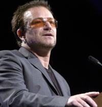 El cantante del grupo U2, Bono. / AP