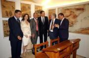 EFE  De izquierda a derecha, García Prieto, Clemente, López, Rodríguez Zapatero, Gamoneda y Amilivia ayer en la Casa Museo