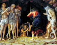 Una de las obras de Mantegna 'Descendiendo al Limbo'. / AP
