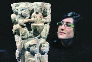 EFE  Columna de alabastro del siglo XII, una de las piezas que expone el MNAC