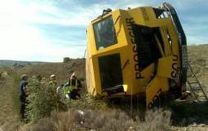 Muere el conductor de un furgón blindado al caer por un terraplén