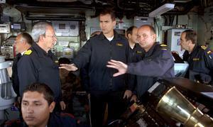 Don Felipe, a bordo de la fragata «Victoria»