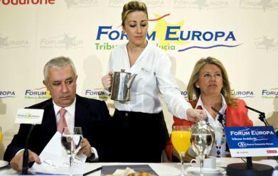 EFE/JORGE ZAPATA  Arenas, durante el acto celebrado ayer en Mijas