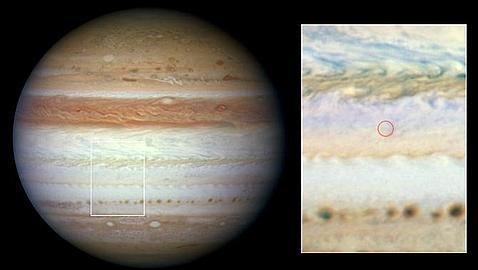 El objeto que impactó contra Júpiter es un meteoro gigante en llamas