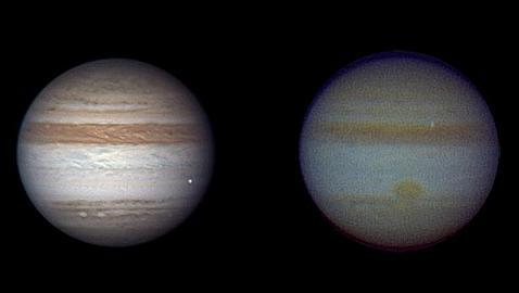 Dos asteroides como los que han rozado la Tierra impactaron en Júpiter