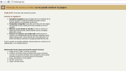 La web del PSOE, única superviviente del ciberataque contra la «Ley Sinde»