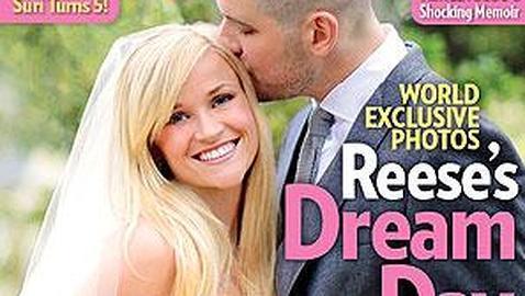 La actriz Reese Witherpoon, radiante en el día de su boda con Jim Toth