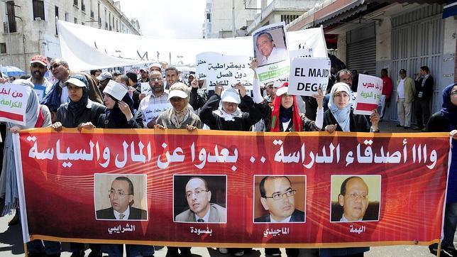 Los marroquíes exigen más democracia