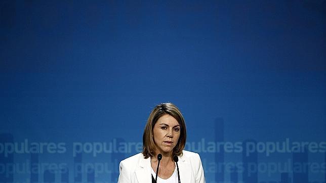 Maria Dolores de Cospedal: «Es la antesala del cambio en España»