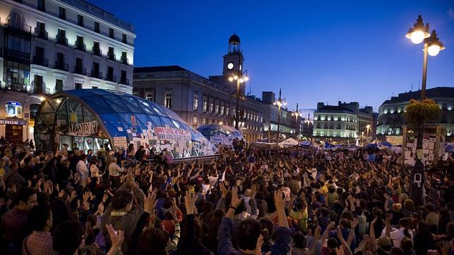 Cierre patronal en la Puerta del Sol