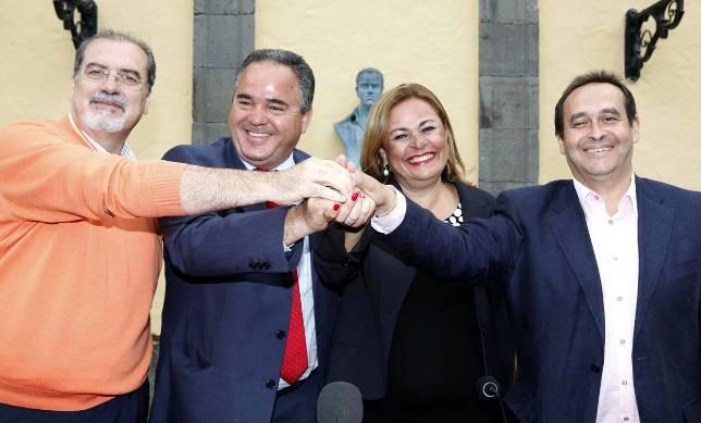 PP, CC y Ciuca cierran el pacto para gobernar en Telde