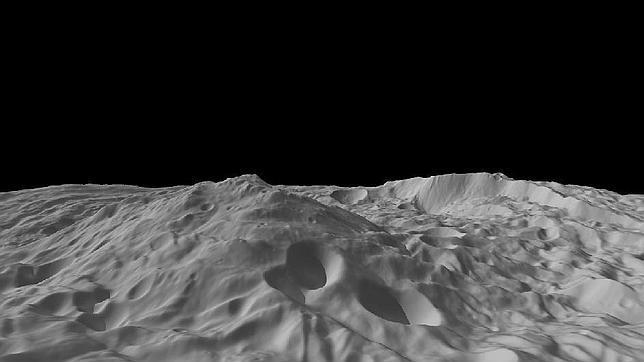 Una montaña tres veces el Everest en el asteroide Vesta