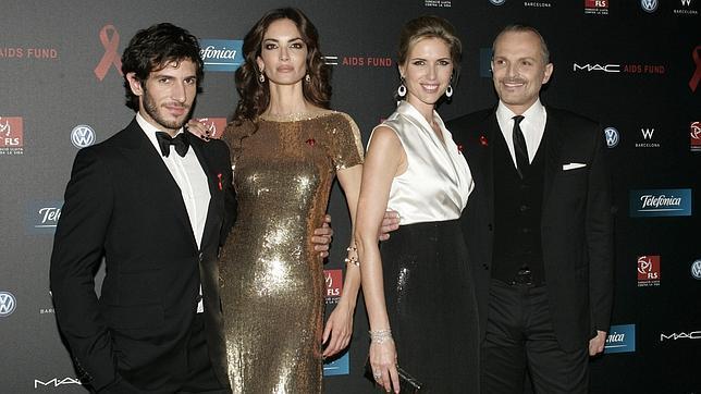 Eugenia Silva y Miguel Bosé, juntos contra el sida