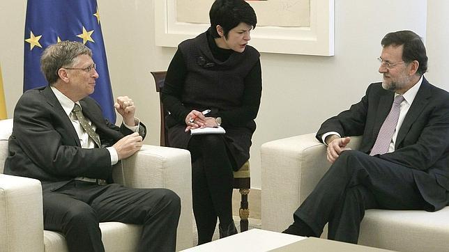 Rajoy garantiza a Gates su compromiso con los países pobres, aunque «revisará sus prioridades»
