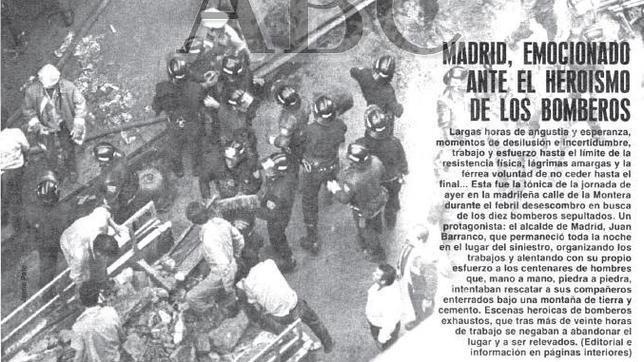 Veinticinco aniversario de la tragedia de los almacenes Arias de Madrid