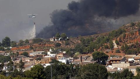 El incendio de Chulilla devora 5.500 hectáreas