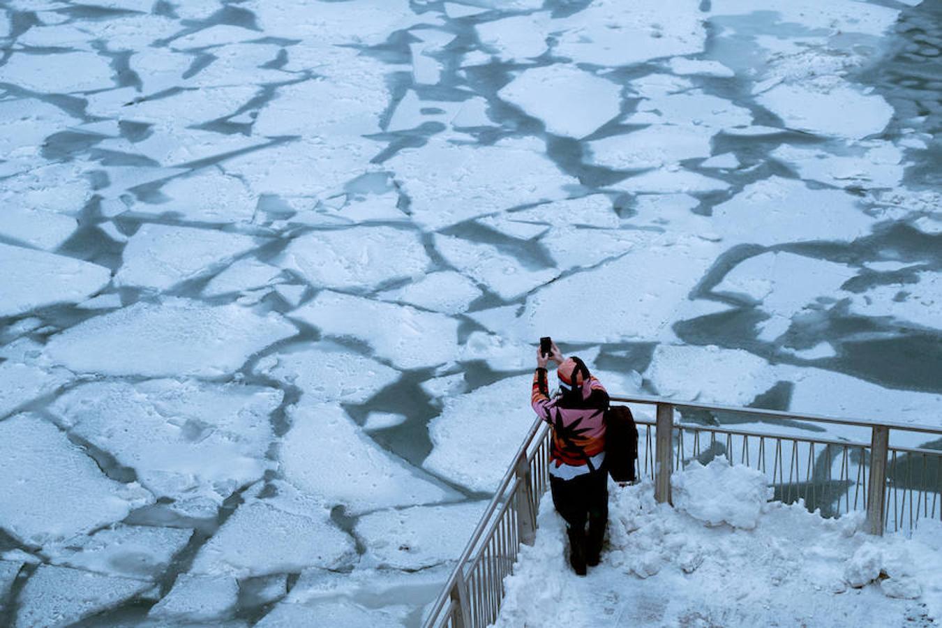 El lago Michigan en Chicago, Illinois, Estados Unidos.
