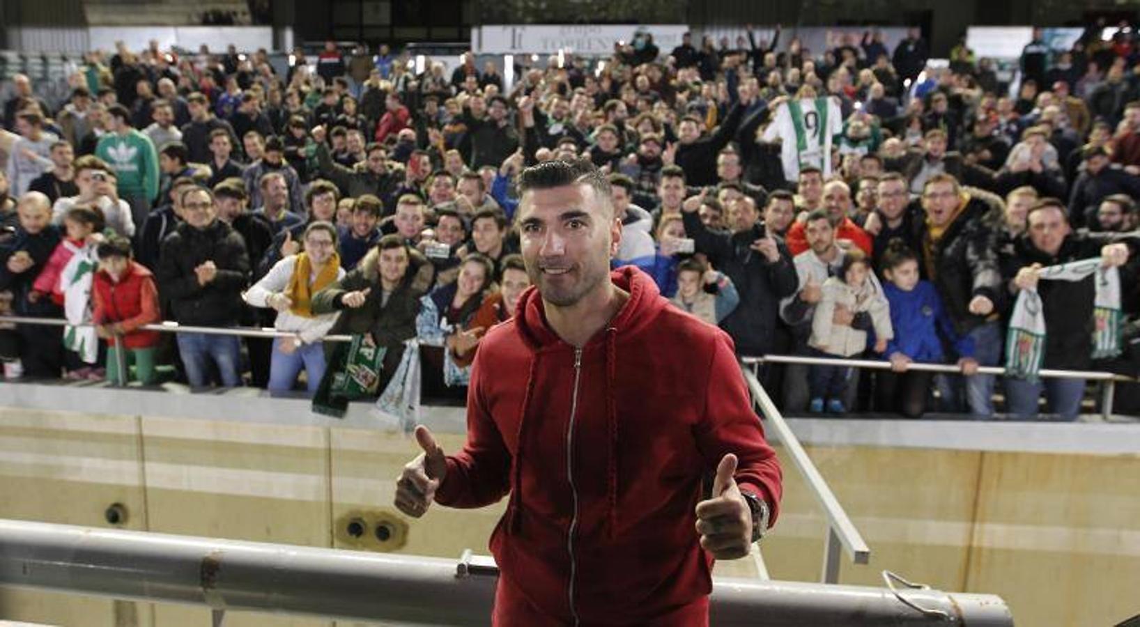 Reyes durante su presentación en el Extremadura UD