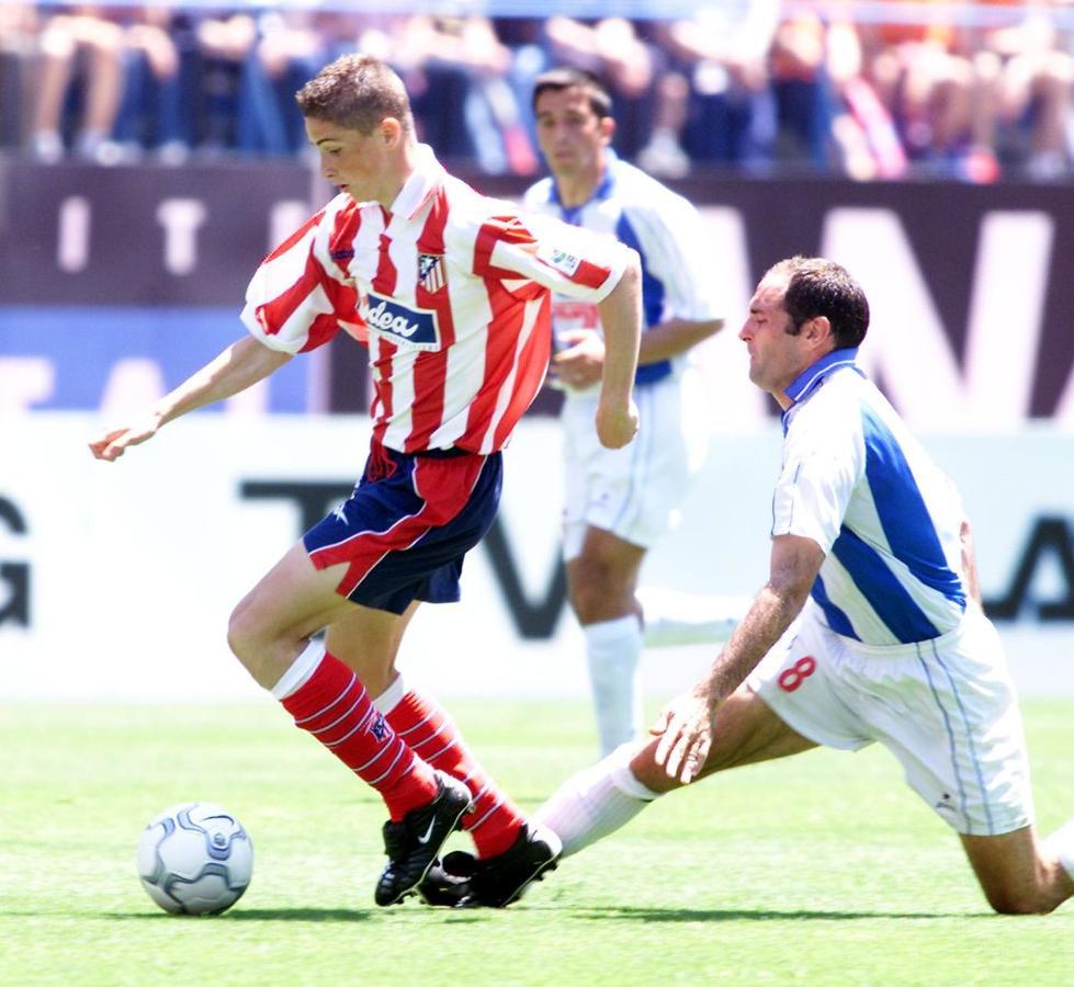 Debut en el Atlético con el Leganés en 2001