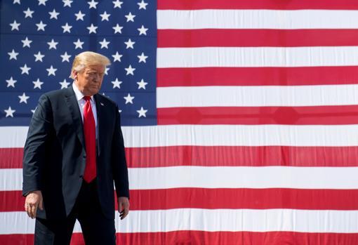 Donald Trump, tras visitar unos astilleros en Marinette (Wisconsin)